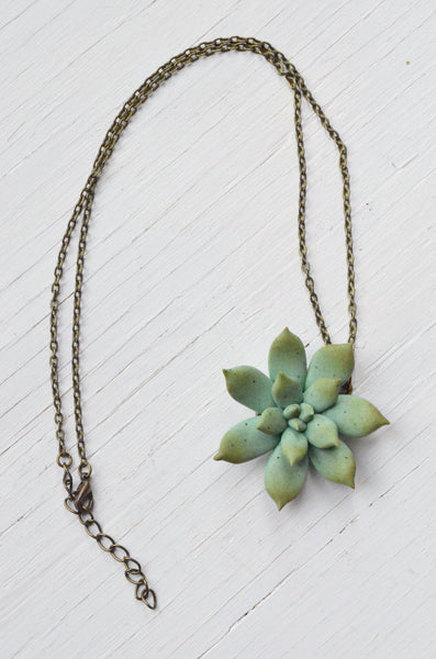 succulent pendant necklace with chain