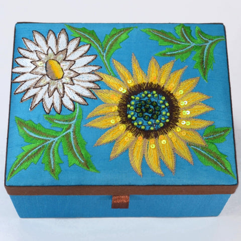 Sunflower Jewelry Box | Jewelry box for girls, gift for girls, fair trade