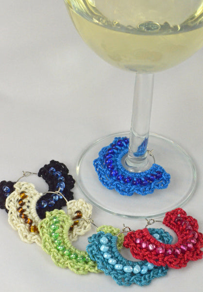 Crochet Wine Glass Markers - Set of 6