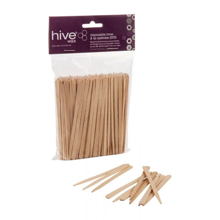 Hive Disposable Brow & Lip Waxing Spatulas 200 Pack