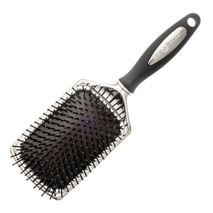 Head Jog 65 Silver And Black Ionic Paddle Brush - Kudos Hair