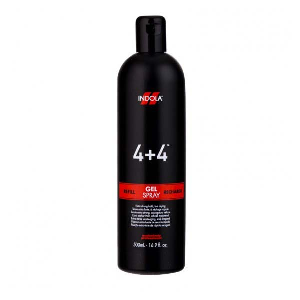 Indola 4 + 4 Gel Spray Refill 500ml - Kudos Hair