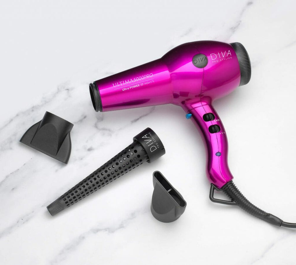 Diva Pro Styling Ultima 5000 Hairdryer Pink