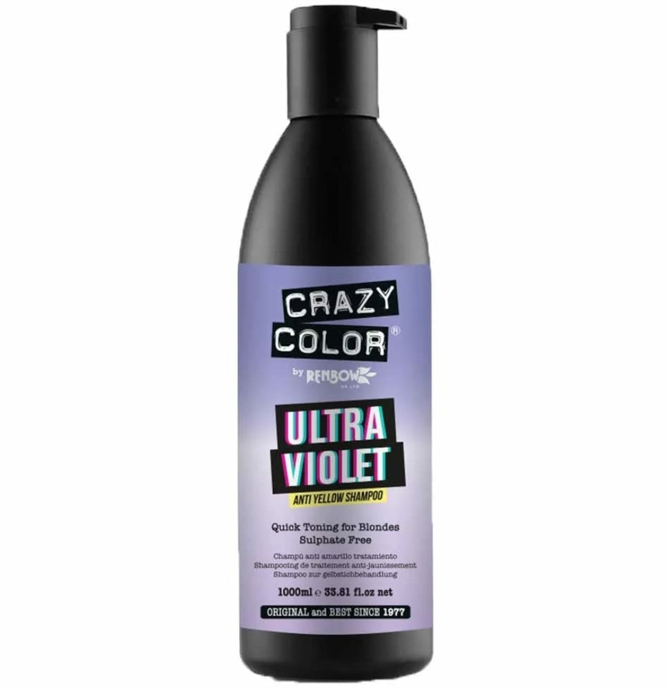Crazy Colour Ultra Violet Anti Yellow Shampoo 1000ml