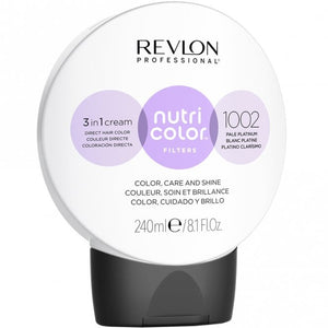 Load image into Gallery viewer, Revlon Professional Nutri Color Filters 1002 Pale Platinum 240ml - Kudos Hair
