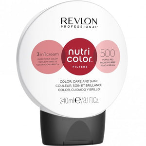 Revlon Professional Nutri Color Filters 500 Purple Red  240ml - Kudos Hair