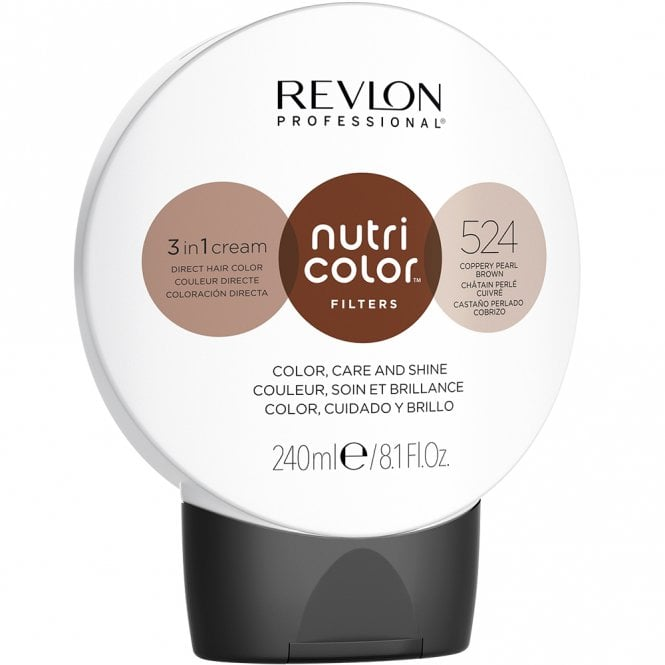 Revlon Professional Nutri Color Filter 524 Copper Pearl Brown 240ml