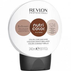 Revlon Professional Nutri Color Filter 524 Copper Pearl Brown 240ml - Kudos Hair