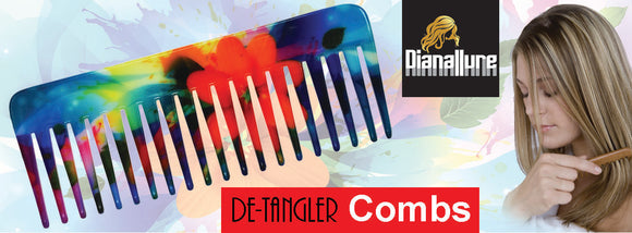 Dianallure Combs are aesthetically unique infused printed combs. These combs are made of nonstatic material. It can with stand temperature upto 121 degree C making it ideal for daily and professional use.