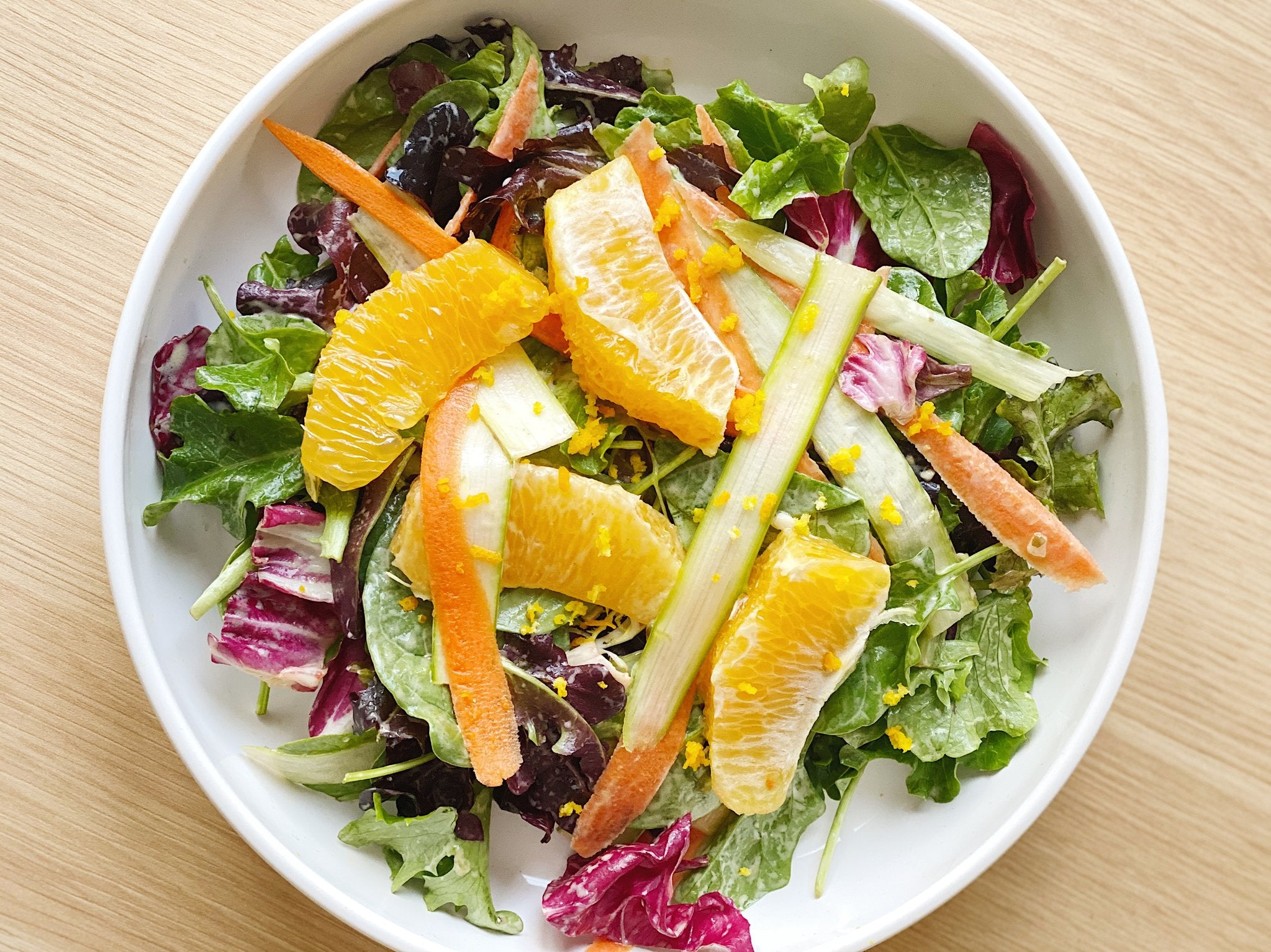 Ribboned Spring Asparagus Salad with Orange Supremes