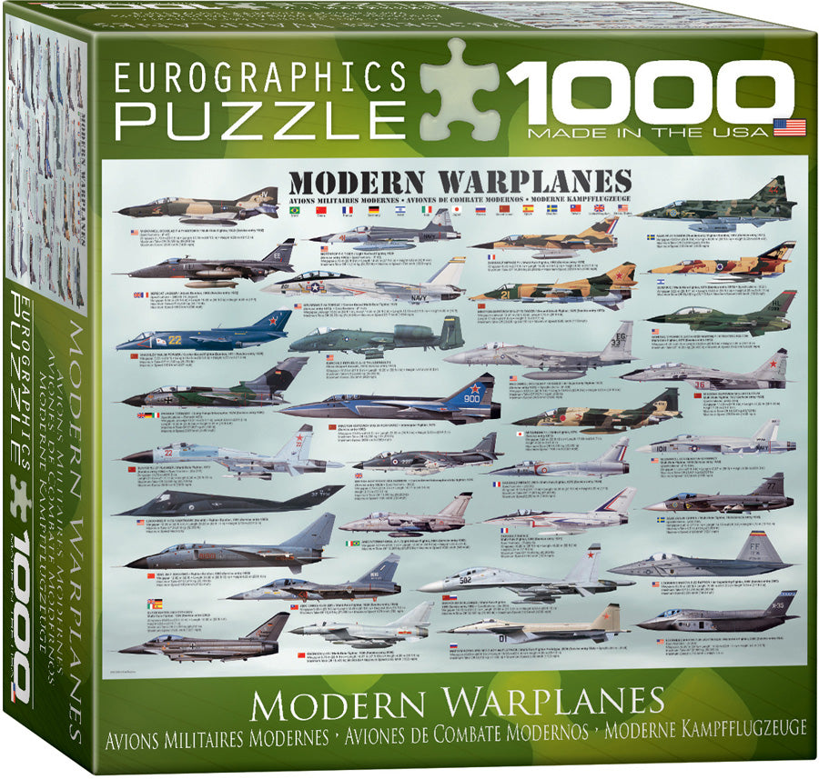 Modern Warplanes Jigsaw Puzzle - 1000 Pieces