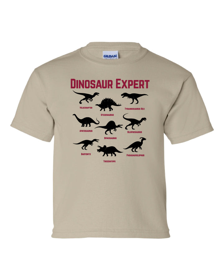 Dinosaur Expert  T-Shirt  -  Glows in the Dark!  -  (Toddler & Youth)