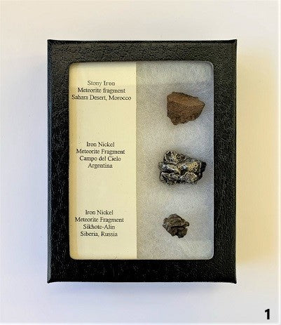 3 Meteorite Display Pack  (ID#1)