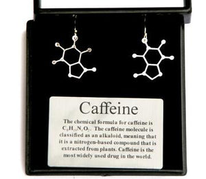 Caffeine Earrings  Science Jewelry