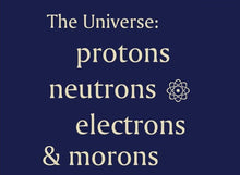 Load image into Gallery viewer, The Universe:  Protons, Neutrons, Electrons & Morons  --  T-Shirt   -  Adult