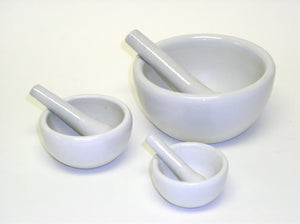 Mortar with Pestle  (30 ml - 80 ml -100 ml - 300 ml)