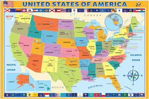 Map of the US - Jigsaw Puzzle - 200 Pieces