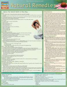 Natural Remedies Chart