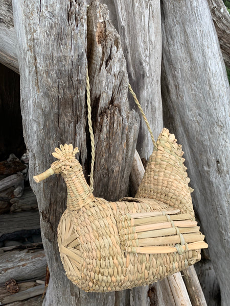 MEXICAN PALM EGG BASKET