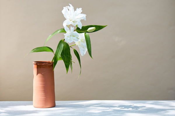 PORTUGUESE TERRA-COTTA UTENSIL HOLDER