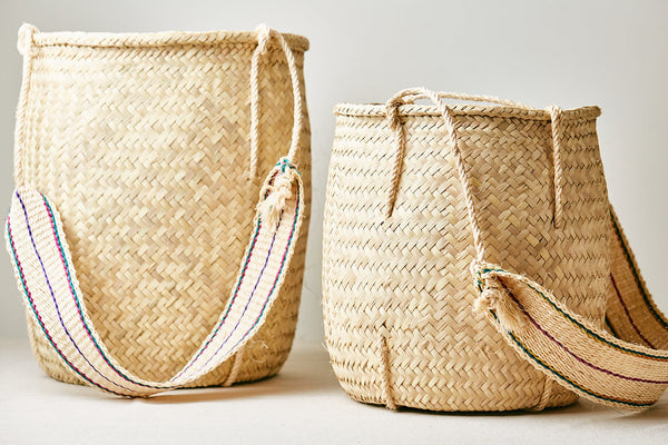 OAXACAN PALM BASKET WITH STRAP