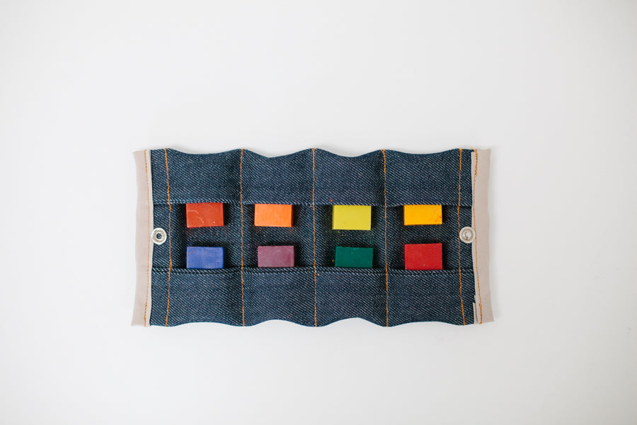 COLOUR BLOCK WALLET WITH BEESWAX COLOURING BLOCKS
