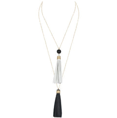 Dual Tassel Necklace