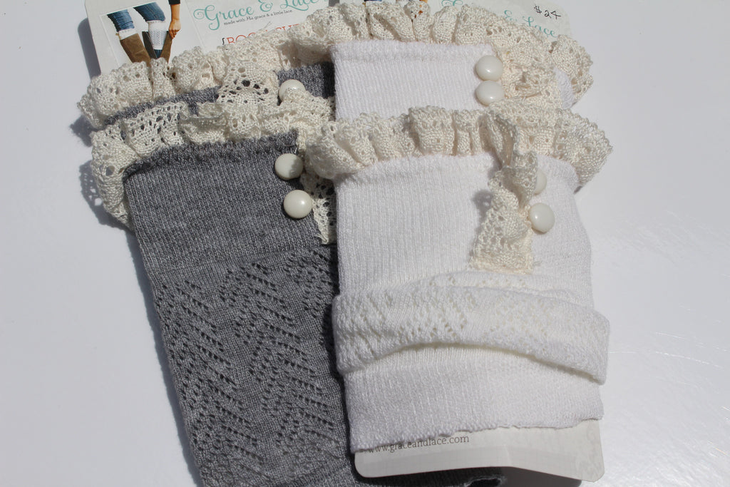 Lacy DAINTY LACE BOOT CUFFS