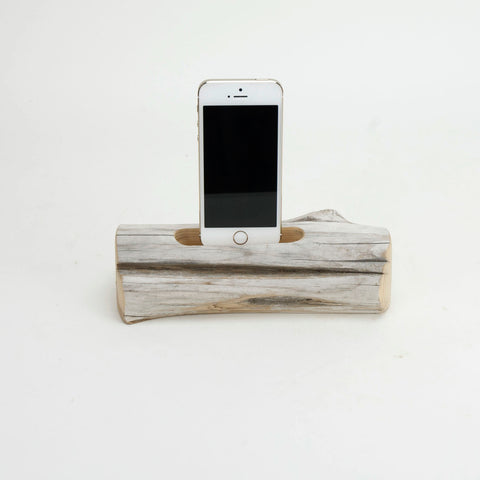 Docking Station, driftwood, SINGLE  iPhone 6/6+/5/5c/5S