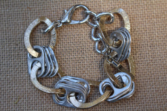 Recycled pull tab CHUNKY GOLD CHAIN BRACELET