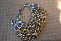 Recycled pull tab CHUNKY 5 STRAND BRACELET