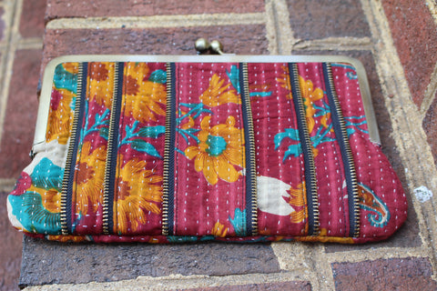 Kantha CLUTCH FABRIC PURSE