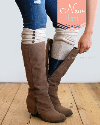Grace and Lace...Rouched boot cuff