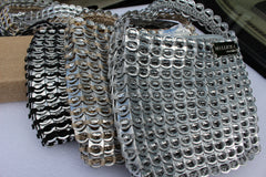 Recycled pull tab CITY PURSE