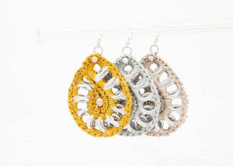 Recycled pull tab CROCHET EARRINGS