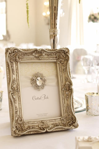 Silver Table Number Frame