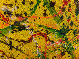 Yellow Abstract Splatter Painting