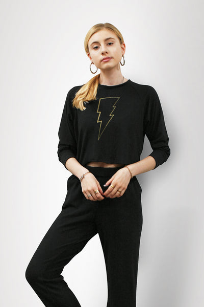 Lightning Crop Sweater