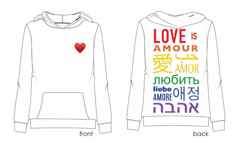 Rainbow Love is Love Sweatshirt