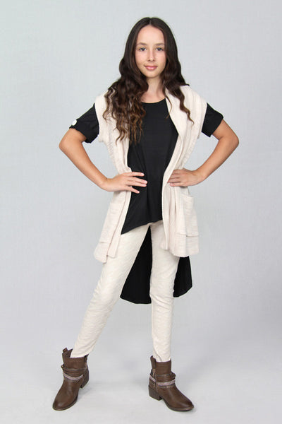 Pearl Knit Vest with Pockets