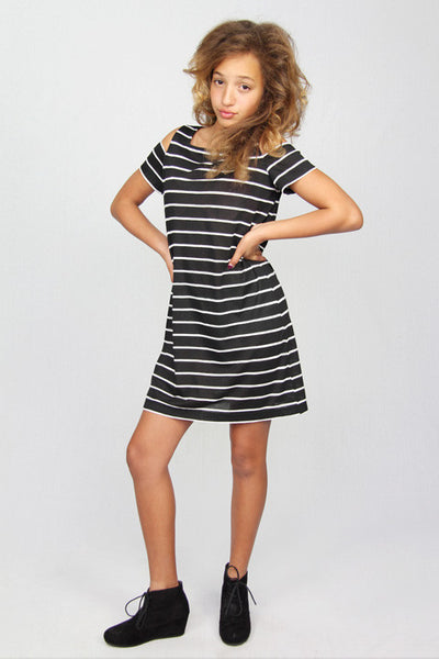 Stripes Cutout Dress