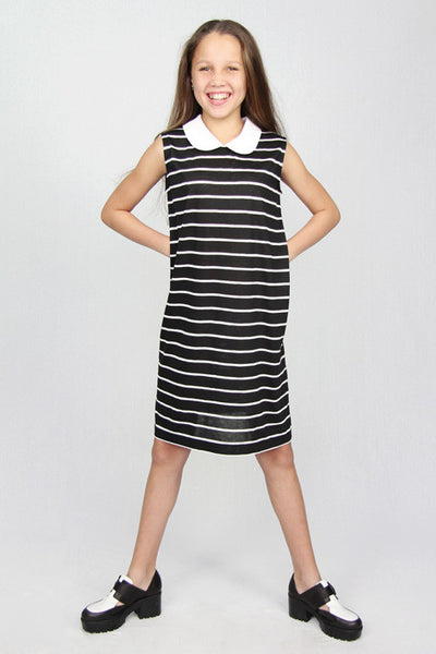 Stripes Peter Pan Collar Dress