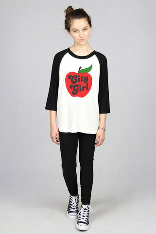 City Girl Baseball Tee - Currently Out of Stock