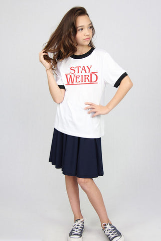 Stay Weird Ringer Tee - SOLD OUT