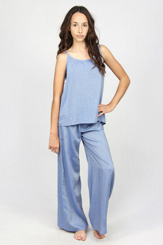Slip Top Tank - Chambray