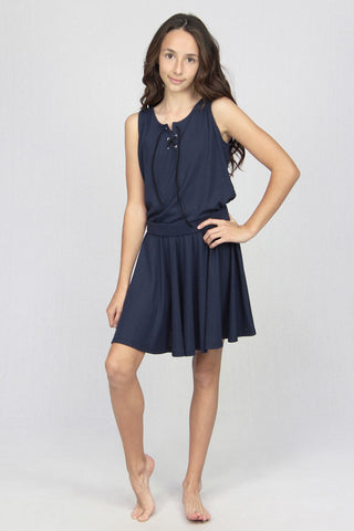 Circle Skirt - Navy/Black