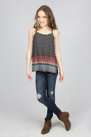 Slip Top Tank - Boho Black