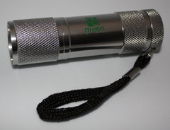9 LED Flashlight - Silver