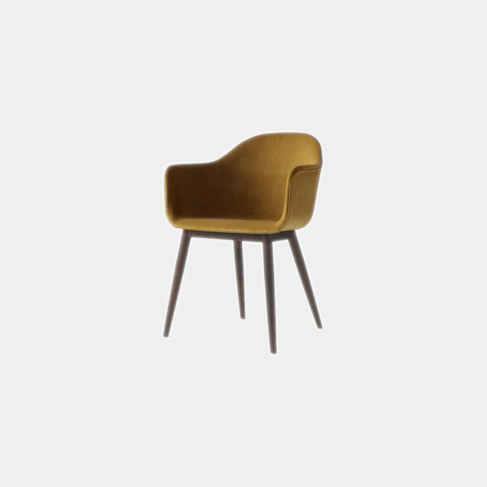 Harbour Chair, Upholstered, Wooden Legs