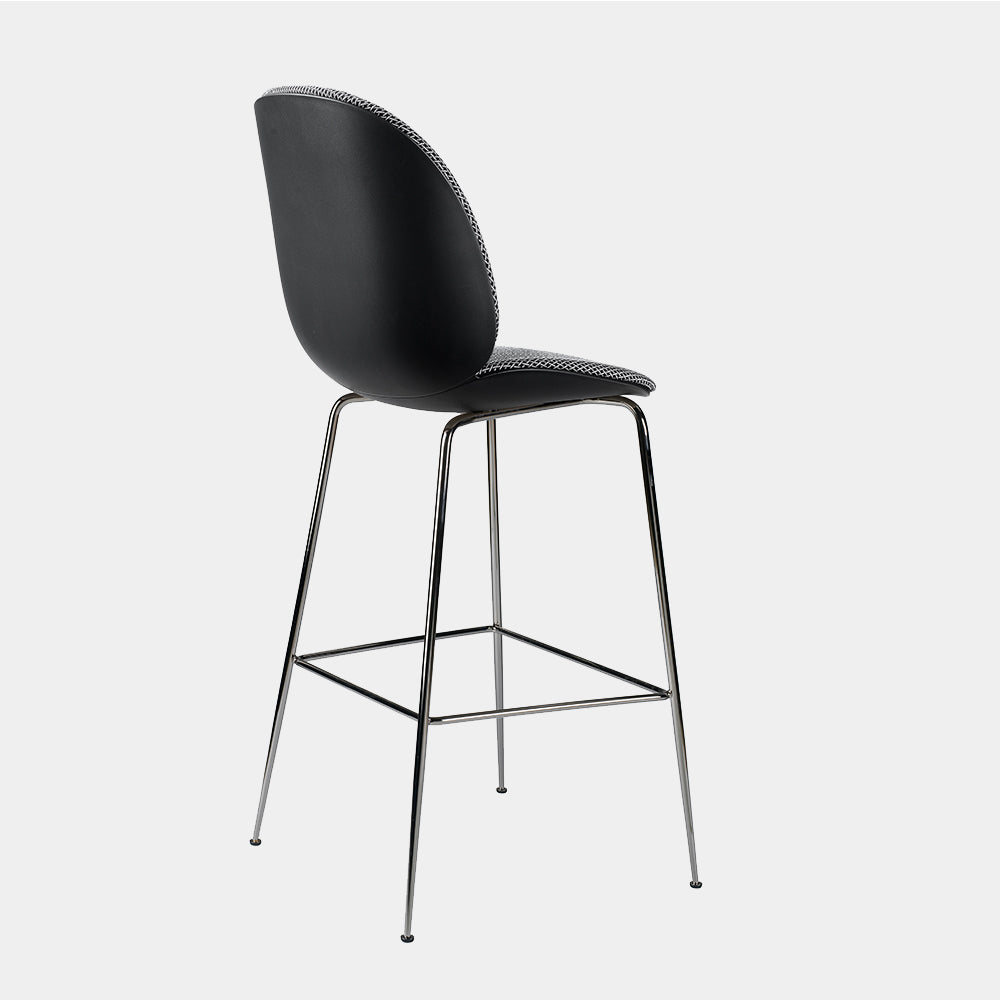 Beetle Chair Stool, bar height, front upholstered
